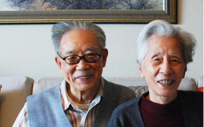 "He Yanling (L) and his wife Song Zheng (R) in an undated photograph, identified as a ""revolutionary couple"" by People's Daily. Mr. He recently spoke out on behalf of the persecuted spiritual practice Falun Gong. (Screenshot via people.com.cn)"