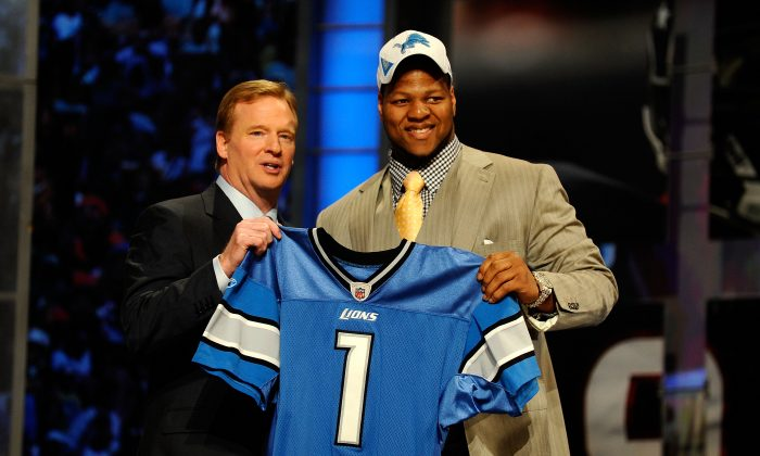 Nebraska's Ndamukong Suh was selected second overall by the Detroit Lions during the 2010 NFL Draft. (Jeff Zelevansky/Getty Images)