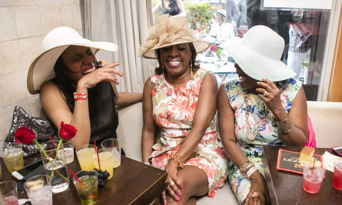 Guests at Harlem's 3rd Annual Kentucky Derby Gala at Ristorante Settepani in Harlem, New York, on May 2, 2015. (Samira Bouaou/Epoch Times)