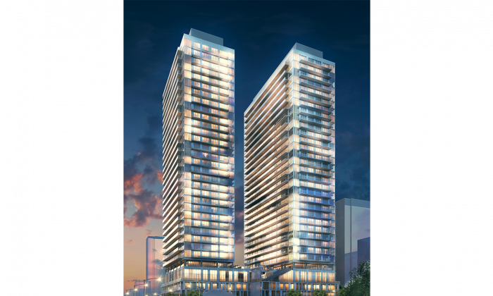 Rendering of Citylights on Broadway, a condo/apartment project by Pemberton Group currently in pre-construction at Yonge Street and Eglinton Avenue in Toronto. (Milborne Real Estate)