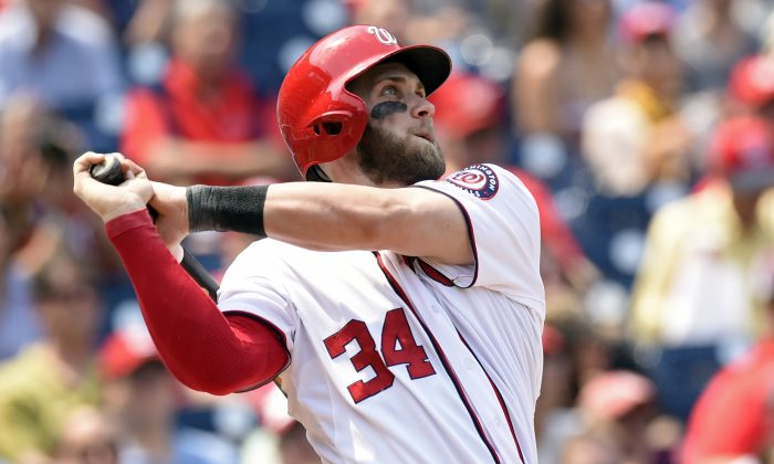 Washington Nationals right fielder Bryce Harper hit three home runs Wednesday and may be ready for a breakout season. (AP Photo/Susan Walsh)