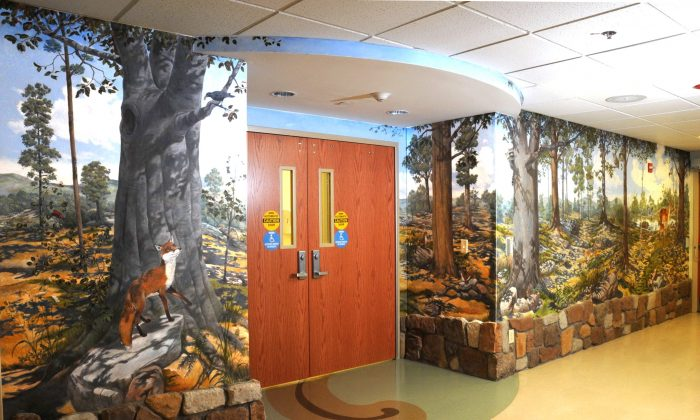 The Children's Emergency Department mural painted by Fishkill based artist, Steven James Petruccio. (www.ormc.org/art)