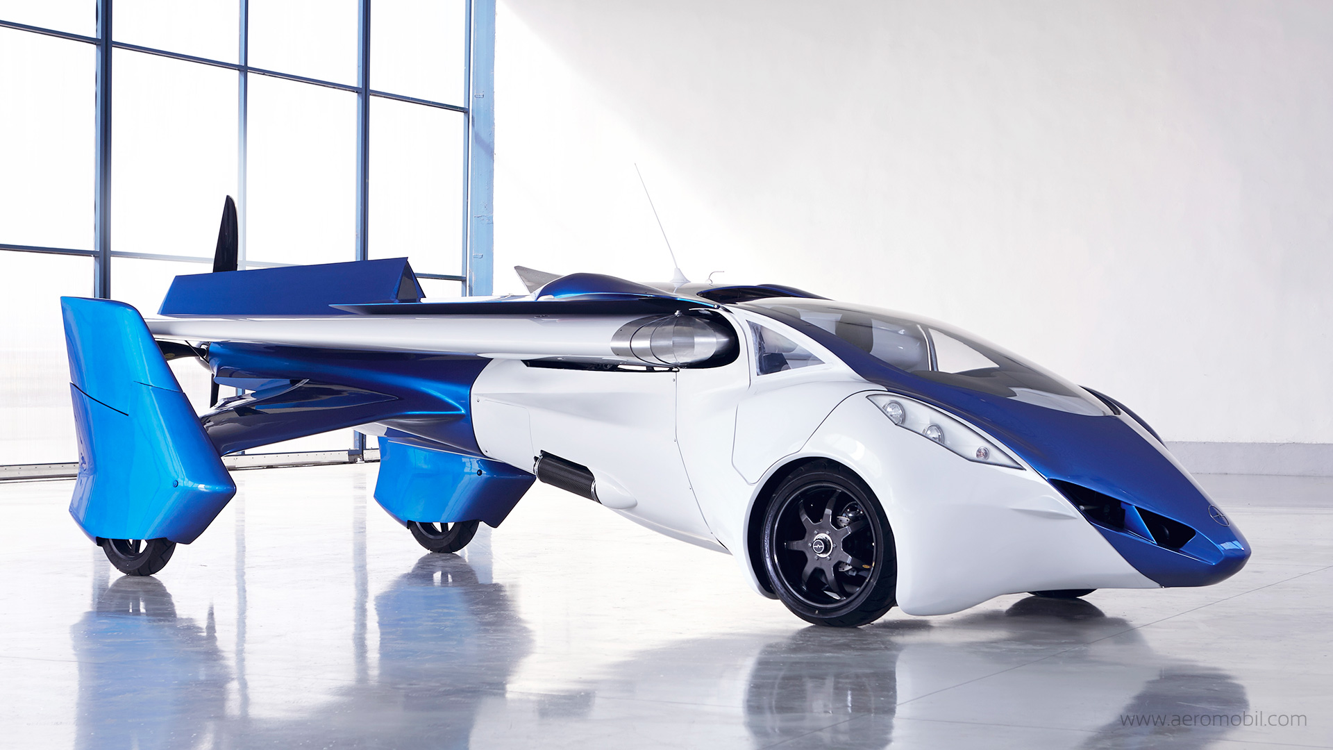 The Aeromobil 3.0 ready to drive. (Aeromobil)