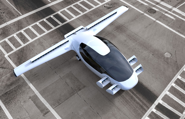 Artist's rendering of the Lilium Jet ready for takeoff. (Lilium Aviation)