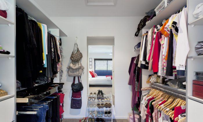 Walk in wardrobe in Australian mansion. (ep_stock/iStock)