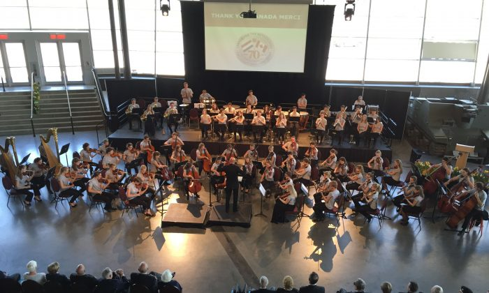 The Youth Orchestra of The Netherlands treated Canadian World War II vets to a very special private concert at the Canadian War Museum on May 7, 2015. (JeugdOrkest Nederland)