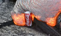 Video: Man Places a Coke Can Next to Lava