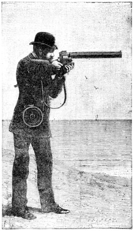 An illustration of the photographic gun,  from the book