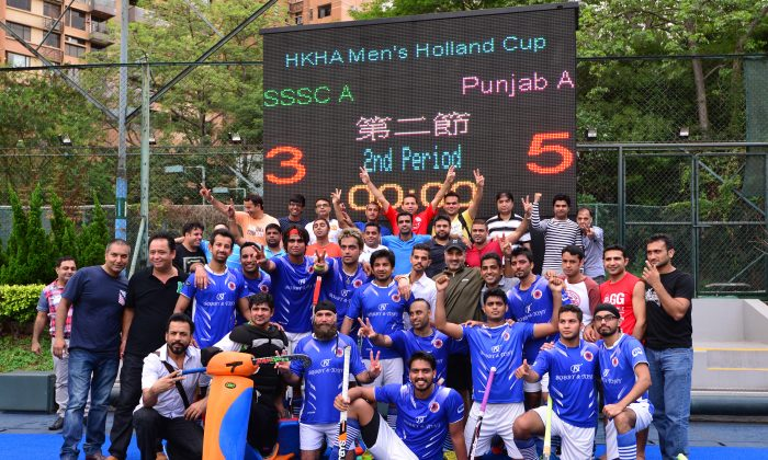 Punjab A celebrate their win in the men's Holland Cup final against SSSC-A at King's Park on Sunday May 10, 2015. (Bill Cox/Epoch Times) Bill Cox/Epoch Times