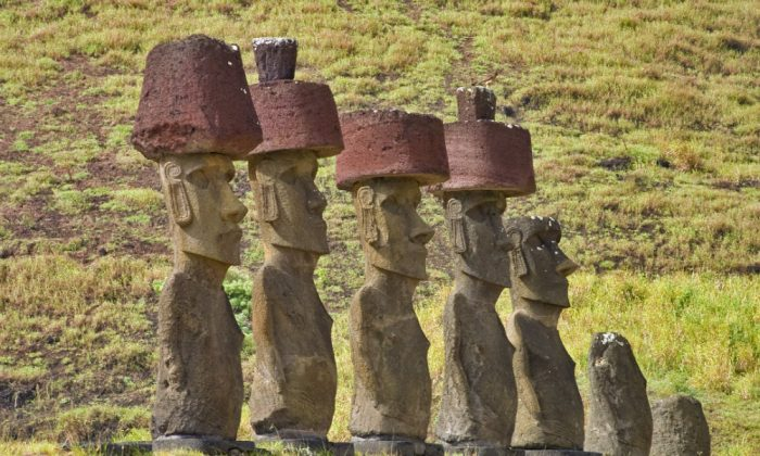 Easter Island's moai statues. (Christian Wilkinson/iStock)