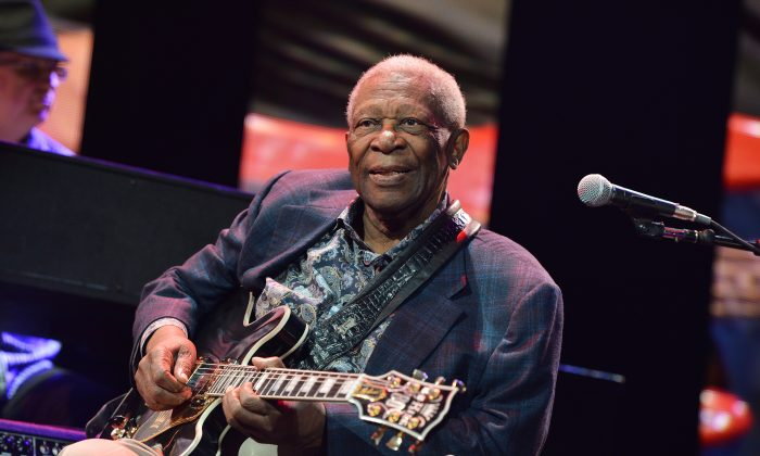 B.B. King performs on stage during the 2013 Crossroads Guitar Festival at Madison Square Garden on April 12, 2013 in New York City. (Larry Busacca/Getty Images)