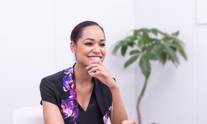 Ariana Miyamoto in Tokyo, Japan on April 28, 2015. Miyamoto is the first mixed race Japanese model to represent Japan in the Miss Universe pageant. (Niu Bin/Epoch Times)