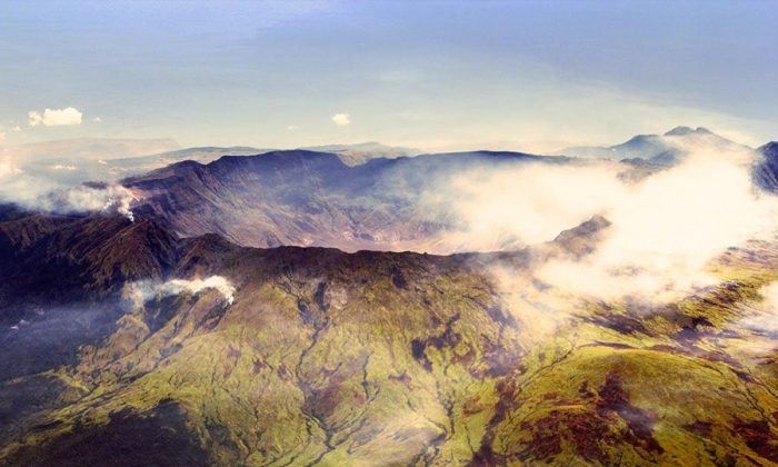 The Mount Tambora caldera. The area was declared a national park last month. Photo: Wikimedia Commons