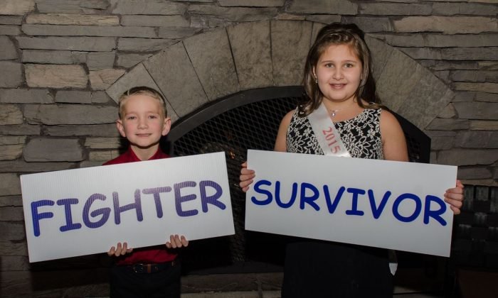 Leukemia and Lymphoma Society's 2015 Boy and Girl of the Year Douglas Grimmett, 8, and Mary DeLorenzo, 10. Both children were diagnosed with acute lymphoblastic leukemia. (Leukemia and Lymphoma Society)