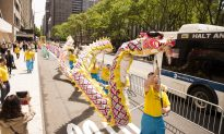 Why a Thousand People in Bright Yellow Shirts Formed Four Chinese Characters in a New York City Park