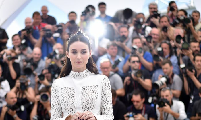 """US actress Rooney Mara poses during a photocall for the film """"Carol"""" at the 68th Cannes Film Festival in Cannes, southeastern France, on May 17, 2015.  (Bertrand Langlois/AFP/Getty Images)"""