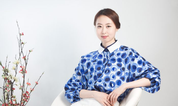 NTD Television producer and host Hyesoo Yoon in Chelsea, Manhattan, N.Y., on May 8, 2015. (Petr Svab/Epoch Times)