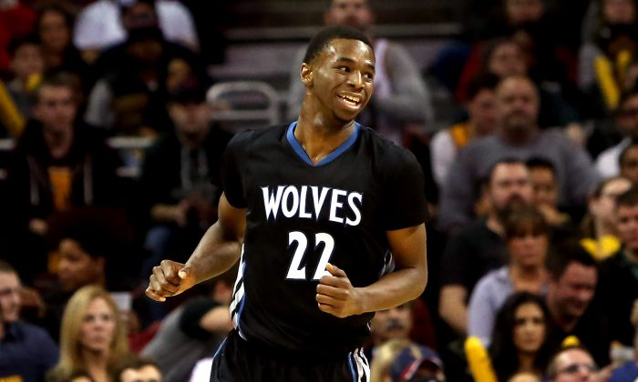 Andrew Wiggins of the Minnesota Timberwolves was a unanimous pick for Rookie of the Year. (Mike Lawrie/Getty Images)