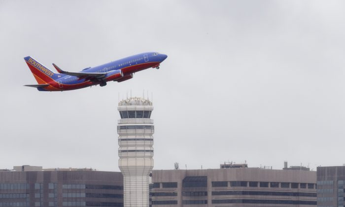 a Southwest Airlines jet takes off from Washington's Ronald Reagan National Airport. (AP/J. Scott Applewhite)
