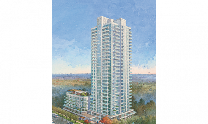 International Home Marketing Group has launched sales for the first phase at The Ravine, a master-planned community in North York that's nestled amid acres of parkland. The first phase will be a 29-storey glass tower with 331 suites. (Courtesy of IHMG)
