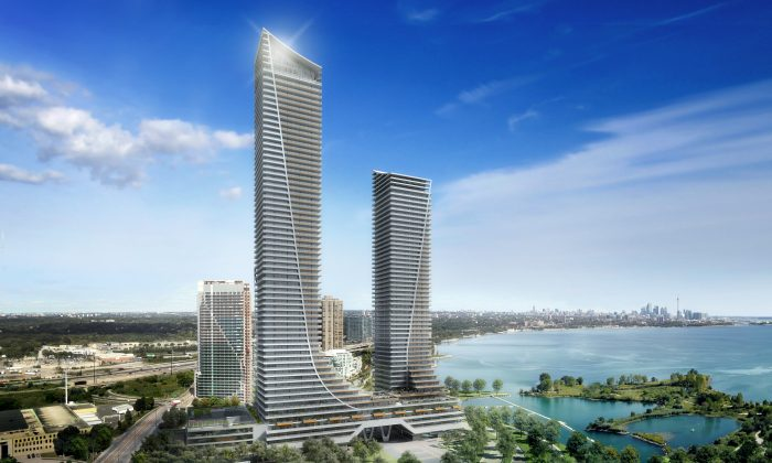 Rendering of Empire Communities' Eau Du Soleil Condominiums at 183 Lake Shore Blvd., Toronto's ultimate waterfront address, with endless city and lake views, luxurious suite designs and inspired resort-style amenities. (Empire)