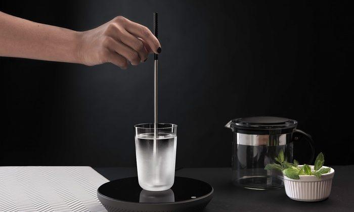 A prototype of the MIITO electric kettle (Kickstarter).