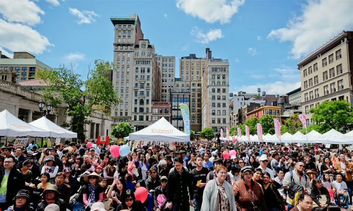 The Passport to Taiwan festival in Union Square, Manhattan, in May 2014. (Courtesy of Passport to Taiwan)