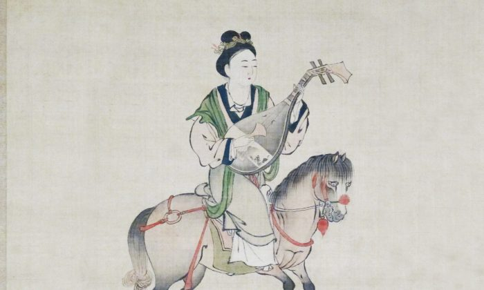 An Japanese depiction of Wang Zhaojun from Edo period. (Wikimedia Commons)