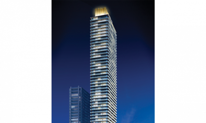 Rendering of Casa II, a 56-storey building designed by Peter Clewes of architectsAlliance that is the second tower in Cresford's Charles Street condo community. (Courtesy of Cresford Developments)