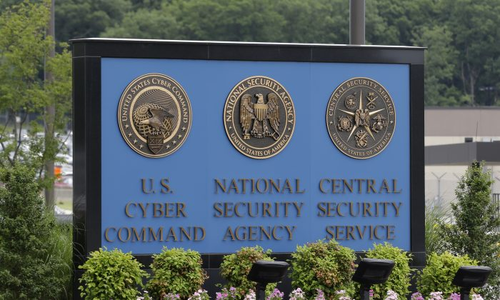 a sign stands outside the National Security Agency (NSA) campus in Fort Meade, Md. (AP Photo/Patrick Semansky)