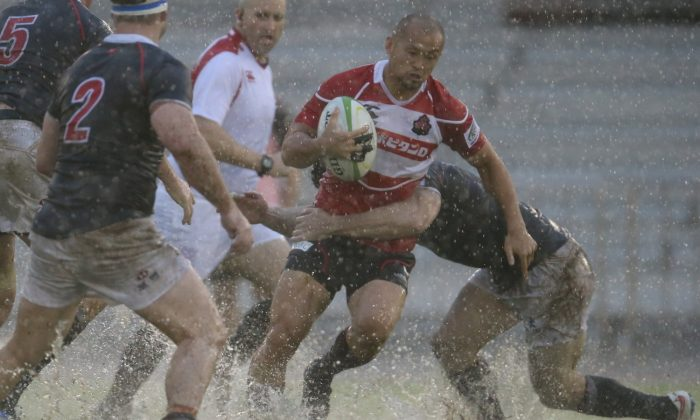 Only 13 minutes of the Hong Kong to Japan match could be played in the Asian Championship in Hong Kong on Saturday May 23, before action was stopped due to severe rain and pitch flooding. The points were shared 3-3 giving Japan a clean sweep in the tournament and allowing Hong Kong to take second place above Korea. (ARFU)