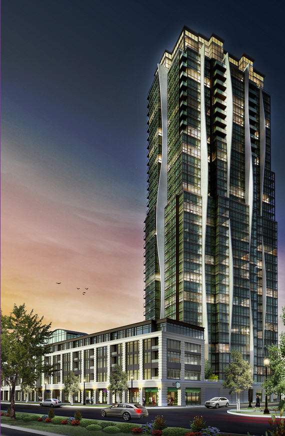 Rendering of Expo Condos, a new 337-unit development by Cortel Group currently under construction at Regional Road 7 and Creditstone Road in Vaughan, Ont., scheduled for completion in 2015. (Courtesy of Andrew Brethour)