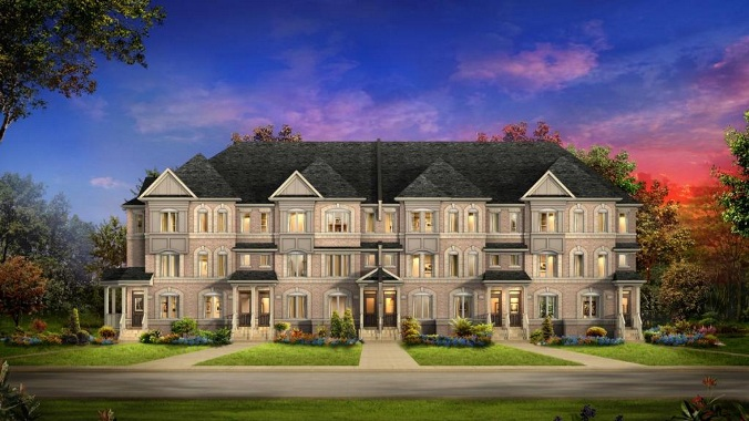 Rendering of Monarch's Birkdale, three-storey townhomes at Ellesmere Road and Midland Avenue, a central location just minutes away from all of Toronto's amenities. (Courtesy of Andrew Brethour)