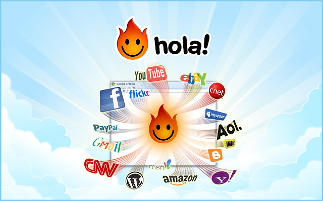 A picture of Hola on its Chrome web store page (Hola).