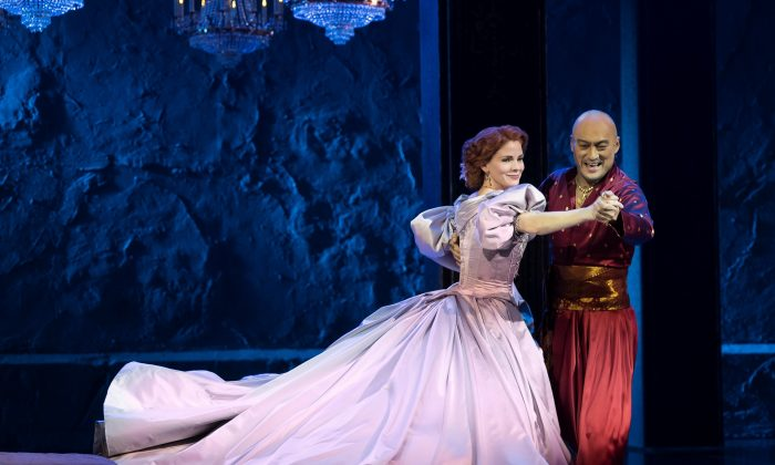 "Anna (Kelli O'Hara) and the King of Siam in one of the most exciting meetings of different cultures in musical theater history: the number ""Shall We Dance"" in Rodgers and Hammerstein's ""The King and I."" (Paul Kolnik)"