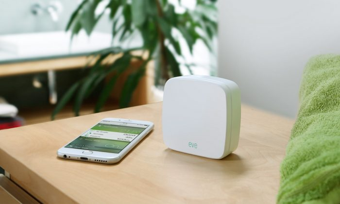 Eve is a system of devices for HomeKit (Elgato).