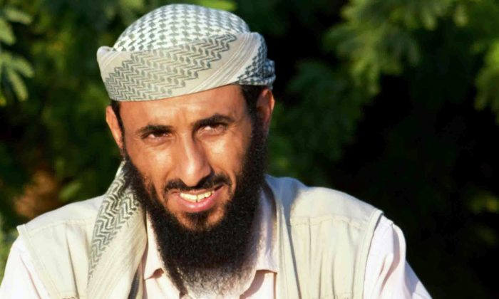 Al-Qaeda in the Arabian Peninsula (AQAP) chief Nasser al-Wuhayshi pictured in the militant stronghold town of Jaar, in the southern Abyan Province, on April 28, 2012. (AFP/GettyImages)