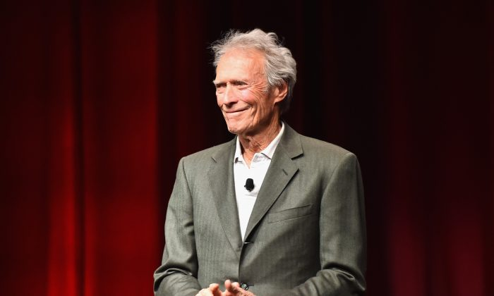 lint Eastwood speaks onstage during CinemaCon on April 22, 2015 in Las Vegas, Nevada. (Alberto E. Rodriguez/Getty Images for CinemaCon)