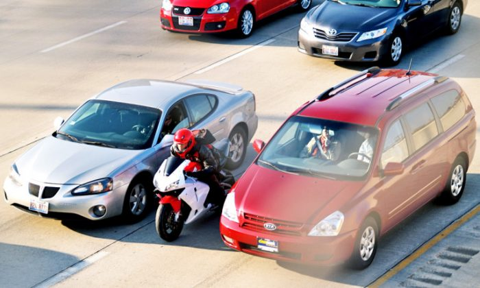 California is the only state in the country where motorcycle lane-splitting is not illegal. (Steven Vance/CC BY-NC-SA 2.0)