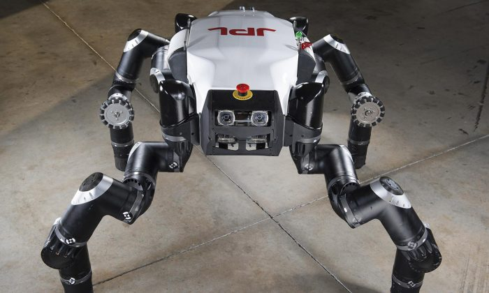 The RoboSimian was designed to do rescue mission work that are too dangerous for humans to perform. (JPL-Caltech)