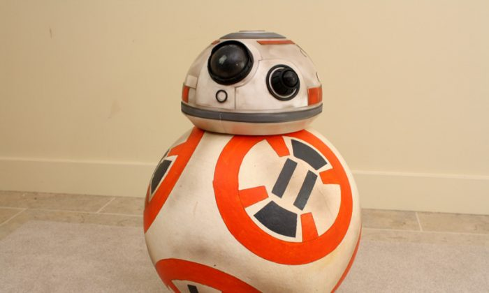 A functioning replica of the BB-8 Droid (James Burton).