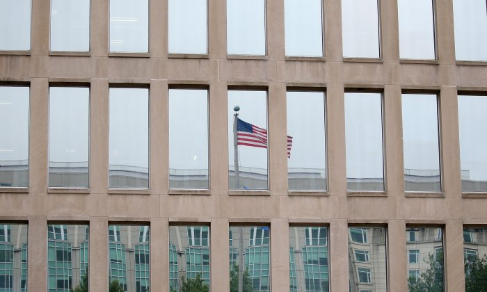The Theodore Roosevelt Federal Building that houses the Office of Personnel Management headquarters is shown June 5, 2015 in Washington, DC. U.S. (Mark Wilson/Getty Images)