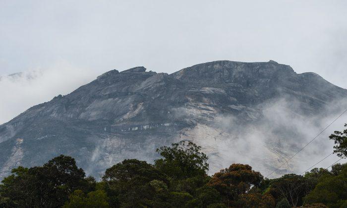 Malaysia's Mount Kinabalu is seen among mists. (Mohd Rasfan/AFP/Getty Images)