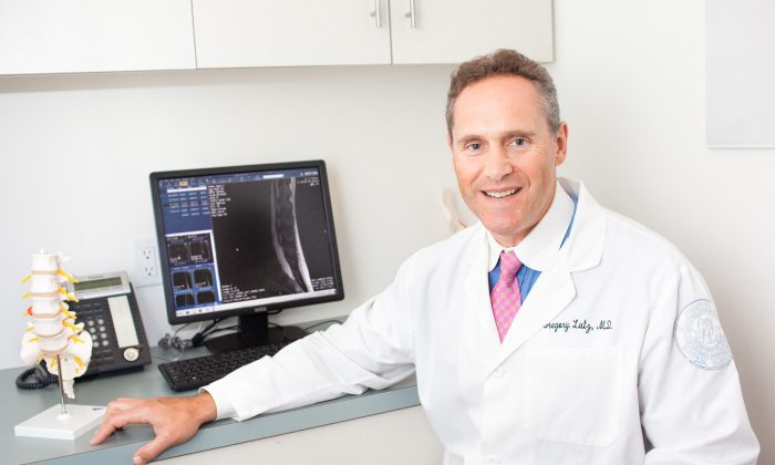 Dr. Gregory Lutz is pioneering platelet rich plasma treatments for low back pain. (Petr Svab/Epoch Times)