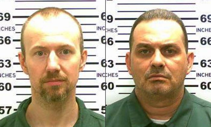 This combination made from photos released by the New York State Police shows inmates David Sweat, left, and Richard Matt. (New York State Police via AP)