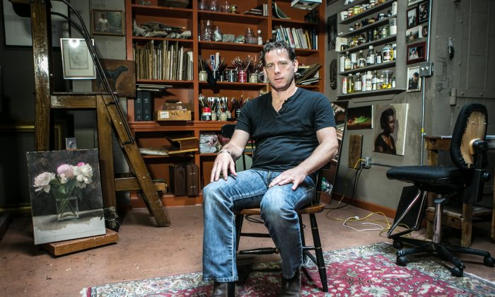 Jacob Collins, artist and founder of the Grand Central Atelier in his home studio on the Upper East Side of New York City on May 19, 2015. (Benjmain Chasteen/Epoch TImes)