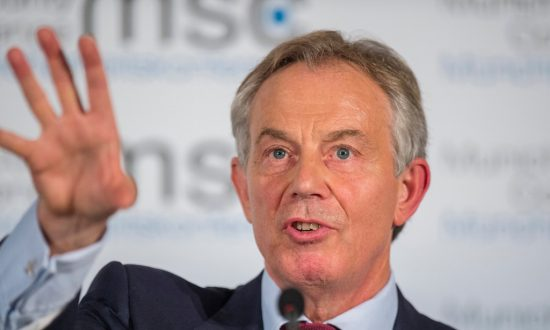 Tony Blair's exit from the Quartet might just keep the UK in Europe