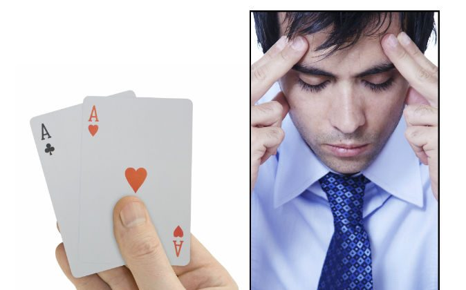 Playing cards (TPopova/iStock) Man concentrating (Loooby/iStock)