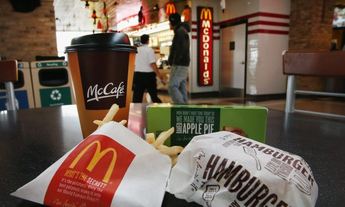A McDonald's meal is at a restaurant in  Des Plaines, Ill., in 2013. (Scott Olson/Getty Images)