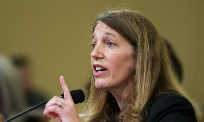 Health and Human Services Secretary Sylvia Burwell testifies on Capitol Hill in Washington, Wednesday, June 10, 2015, before the House Ways and Means Committee hearing on President Barack Obama's health care law. (AP Photo/Manuel Balce Ceneta)